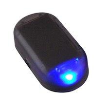Araba sahte güvenlik ışığı güneş enerjili simüle Alarm kablosuz uyarı Anti-hırsızlık uyarı lambası yanıp sönen LED taklit