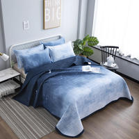 1 Pc Bed cover+2pcs Pillowcases bedding set Romantic starry sky bed Cover Navy blue Bedding Bedspreads Bed Pillowcases