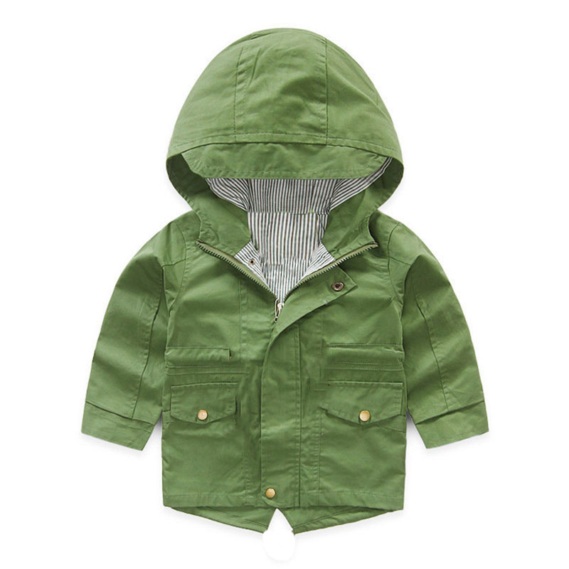 V-Tree Демисезонный куртка для Обувь для девочек мультфильм пальто для мальчиков с капюшоном детская верхняя одежда детская ветровка
