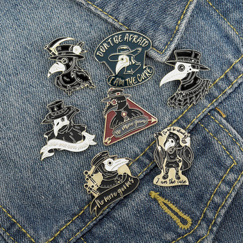 Creative Punk Crow Enamel Lapel Pins Cartoon Animals Brooches Bag Clothes Hat Badge Jewelry Gift for Kids Girls Friend Wholesale image