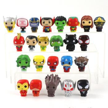 24 sztuk Endgame Avengers Thanos Iron Man Thor Hulk kapitan Spiderman Venom Vision czarna wdowa szop #8230 tanie i dobre opinie Disney Model CN (pochodzenie) Unisex 8 cm 3cm-5cm No Fire PIERWSZA EDYCJA STARSZE DZIECI 12-15 lat 5-7 lat 2-4 lata