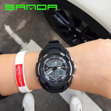 Fashion Outdoor Sport Watch Men Hand Ring LED Display 52mm Dial Digital Waterproof Electronic Reloj Hombre