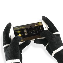 Winter Gloves Warm Knitted Flexible Full Finger Gloves Touch Screen Thicken Wool Cashmere Gloves for Smart Phone Tablet(China)