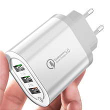 Universal 18 W USB Quick charge 3.0 5V 3A for iphone X  8 EU/US Plug Mobile Phone Fast charger charging for Samsug s8 s9 XIAOMI 3 usb quick charge 3 0 5v 3a eu us for iphone 7 8 eu us plug mobile phone fast charger charging for samsug s8 s9 xiaomi note 7