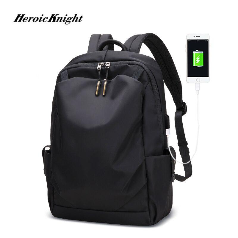Heroic Knight New Anti-thief Fashion Men Backpack Multifunctional Waterproof 15.6 Inch Laptop Bag Man USB Charging Travel Bag