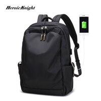 Heroic Knight New Anti thief Fashion Men Backpack Multifunctional Waterproof 15.6 inch Laptop Bag Man USB Charging Travel Bag Backpacks     -