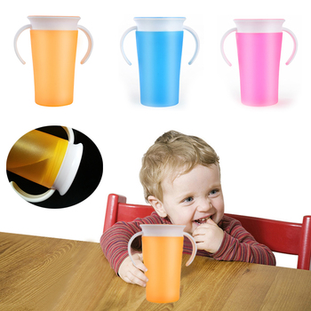 360 Degrees Rotated with Double Handle Trainning Feeding Safe Leakproof Cup Infant  Learn To Drink A of Water Have Lid - sale item Feeding