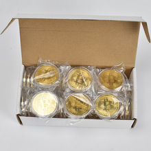 50pcs/Lot Collectibles Bitcoin coin BTC Bit Metal Coin Commemorative Coins For Souvenir