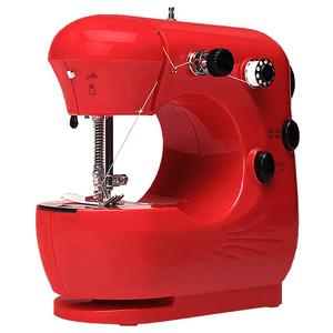 Mini Beginner Sewing Machine, 2 Speed Embroidery Stitching Heavy Duty Quilting Machine Easy To Use,Foot Pedal Operation - Red Eu(China)