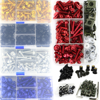 Full Fairing Bolts Kit Screws Fastener For SUZUKI GSXR600 GSXR750 GSX-R600 GSX-R750 GSX-R1000 GSX1300R Hayabusa SV650 SV1000S universal motorcycle accessories scooter fairing bolt windscreen screw for suzuki impulus 400 inazuma 400 gsx r600