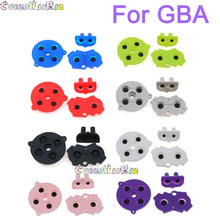 120sets mix 8colors For Game Boy GBA Advance Button Silicone Rubber Pad Conductive Contacts AB Select Start D pad