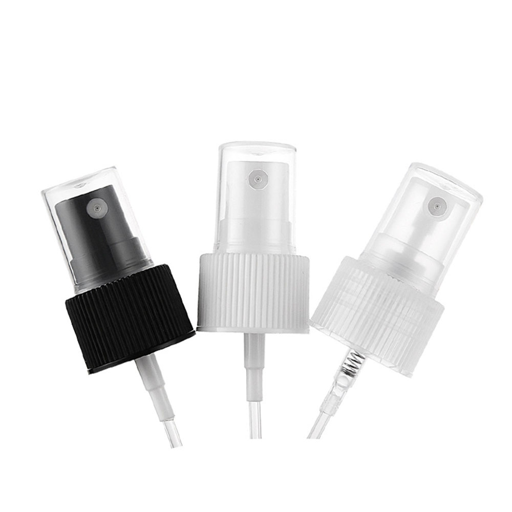 24R White/Black/Clear Plastic Powder Press Pump Head Nozzle For Cosmetic Lotion/Emulsion Bottle With Clear Full Cap,1pcs