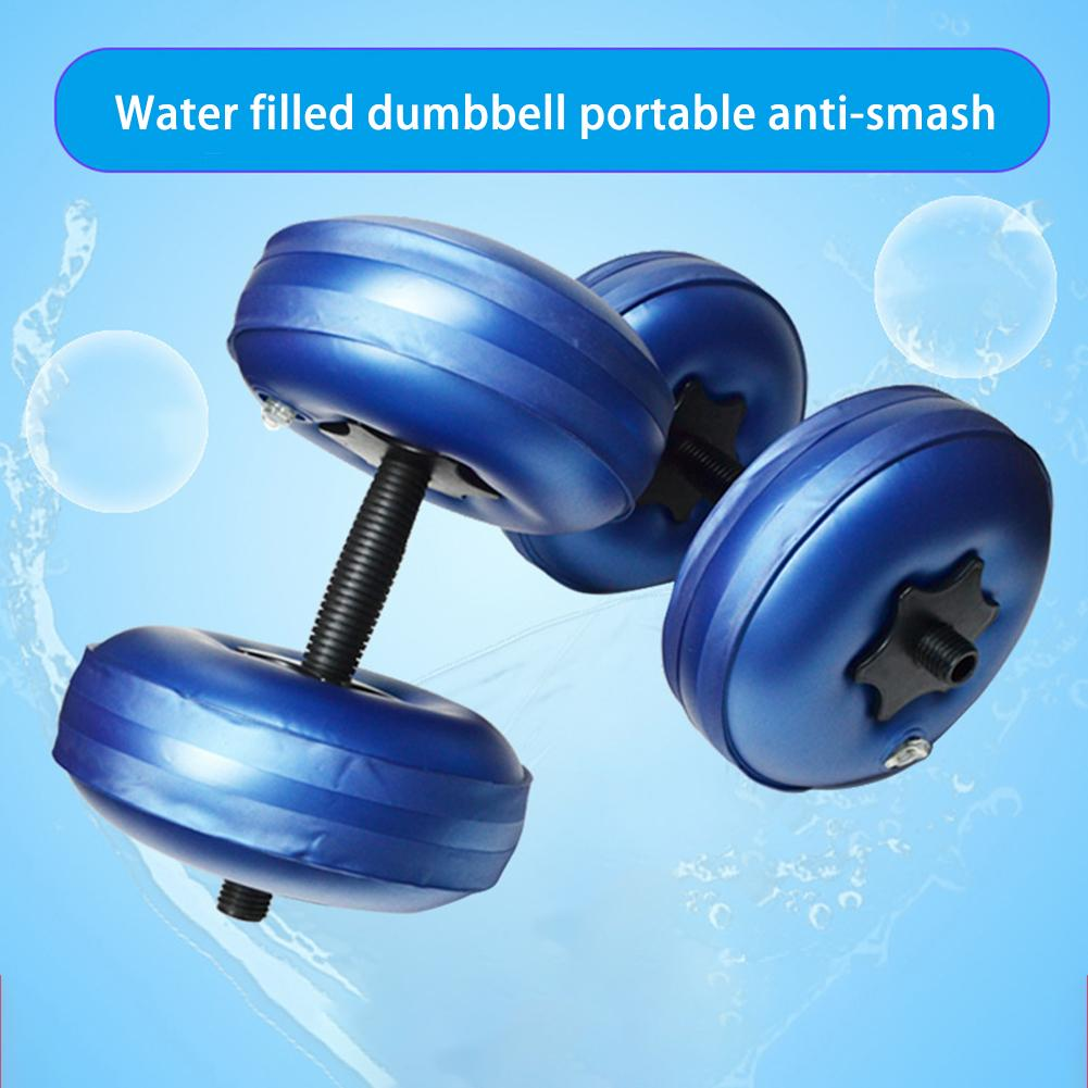 8-10kg Fitness Water Filled Dumbbell Fitness Equipment Training Arm Muscle Fitness Adjustable Training Tool Water Filling Dumbb