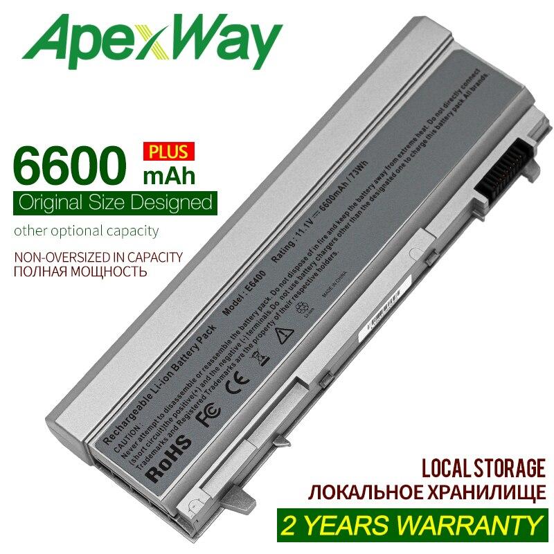 Apexway 9 Cellules 6600 mAh batterie dordinateur portable pour Précision M2400 M4400 M4500 M6400 M6500 pour Dell Latitude E6400 E6410 E6500 E6510