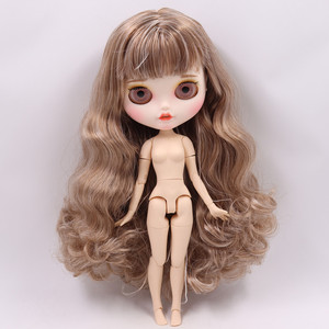 Image 4 - ICY Nude Blyth Doll No. BL340/9158  Brown mix Grey hair Carved lips Pouting mouth Matte customized face Joint body 1/6 bjd