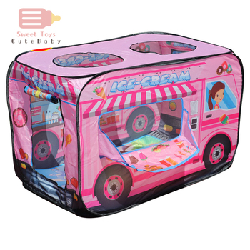 Kids Children Tent Popup Play Tent Toy Outdoor Foldable Playhouse Fire Truck Police Car Game House Bus Tent Indoor Outdoor Game wholesale flyingtown beach game folding kids toytent play game house tent pool children tent outdoor fun sports lawn game