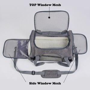 Image 3 - Köpek taşıma torbaları taşınabilir Pet kedi köpek sırt çantası nefes kedi taşıyıcı çanta havayolu onaylı taşıma taşıma kediler için küçük köpek