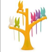 Вилка для фруктов в форме Прекрасного Цветка, креативная красочная вилка для сбора фруктов, креативная вилка для фруктов в форме вилки, красивая вилка для фруктов для детей