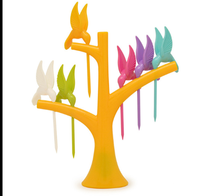 fruit fork Lovely flower shape creative colorful fruit picking creative fruit fork shape beautiful Fruit fork for children|3 in 1 Breakfast Maker Parts| |  -