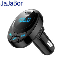 Jajabor transmissor fm bluetooth kit carro handsfree sem fio estéreo a2dp carro mp3 player carga rápida 3.1a apoio tf cartão u disco