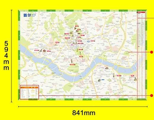 Seoul Travel Map-Chinese And English Attractions Transportation Transportation Shopping Food Practical Information