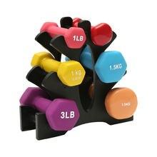 Hantel Rack Stehen 3 Regale Halter Hanteln Gewichte Lagerung Griff Stand Home Büro Gym Übung Boden Halterung Ausrüstung