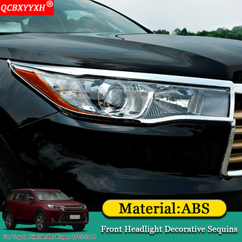 QCBXYYXH Car-styling Car Front Rear Headlight Sequins Strip Lamp Cover Auto Accessories For Toyota Highlander Kluger 2015-2018