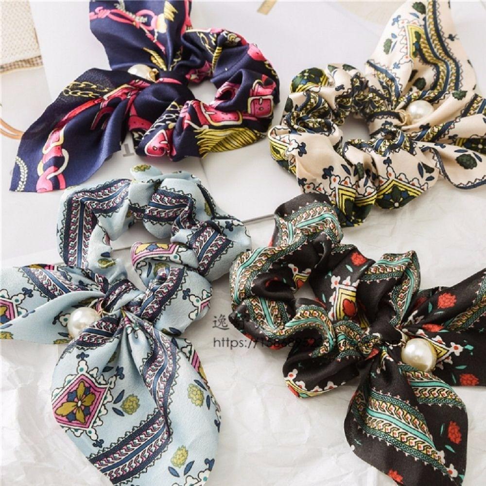 Womens Ponytail Hair Scrunchie Holder Hair Ties Rope Elastic Hair Band Gifts