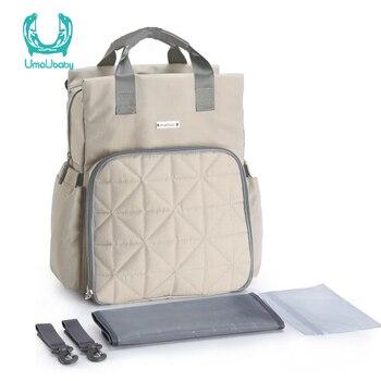 INSULAR bolsas para pañales de moda mochila mamá bebé pañal bolsa impermeable apoyo lavar a máquina de 8 colores para bebé cochecito de cuidado de