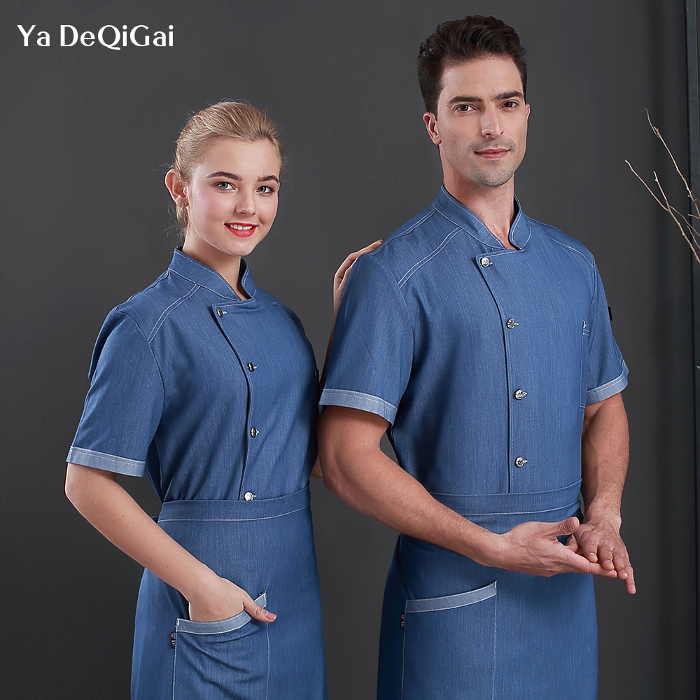 High Quality New Restaurant Chef Uniform Dining Shirt Hotel Chef Uniform Cooking Chef Jacket Food Service Workwear Men And Women
