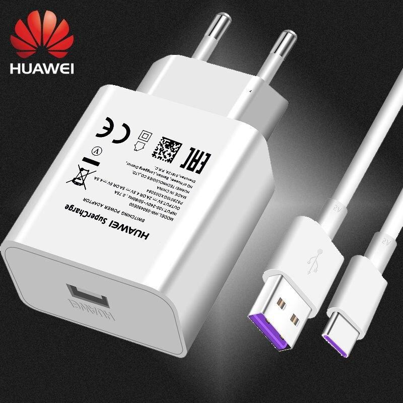 Зарядное устройство USB Honor 10, 5V4, 100% оригинал 5А 5А USB Type C кабель Honor V10 Nova 3rd P20 Pro P10 P9
