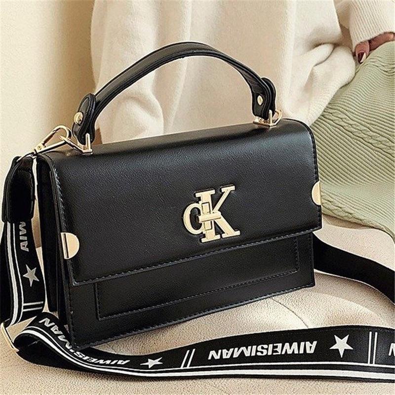 2020 New Famous Design Letter Lock Women Purse And Handbags High Quality Wide Strap Shoulder Messenger Bags Channels Louis Bags