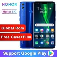 Global ROM Optional Original Honor 8X 6.5 inch Screen 3750mAh 20MP Dual Cameras Android 8.2 Multi language Smartphone
