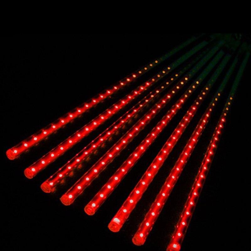 50cm LED Lights Meteor Shower Rain 8Tube Xmas Tree Outdoor Light EU Plug Y1QB