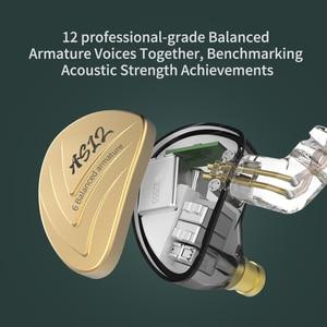 Image 5 - New KZ AS12 Earphones 12BA Balanced Armature Drives HIFI Bass  Headphones In Ear Monitor Headset Noise Cancelling