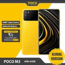 Versión Global POCO M3 Smartphone 4GB 64GB teléfono móvil Snapdragon 662 de 6,53