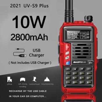 BaoFeng – walkie talkie Portable UV S9 Plus 10W, longue portée, Radio CB, émetteur récepteur, mise à niveau 5R |