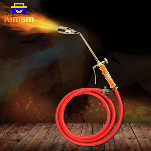 Stainless Steel Liquefied Propane Gas Welding Torch Heating Gun 30 35 50mm Caliber Switch 2m Hose For Soldering Cooking Heating