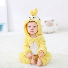 Yellow Parrot Baby Romper NewbornKawaii Baby Girl Boy Clothes Onesie Rompers Kid Clothing Infant Jumpsuit Party Carnival Costume