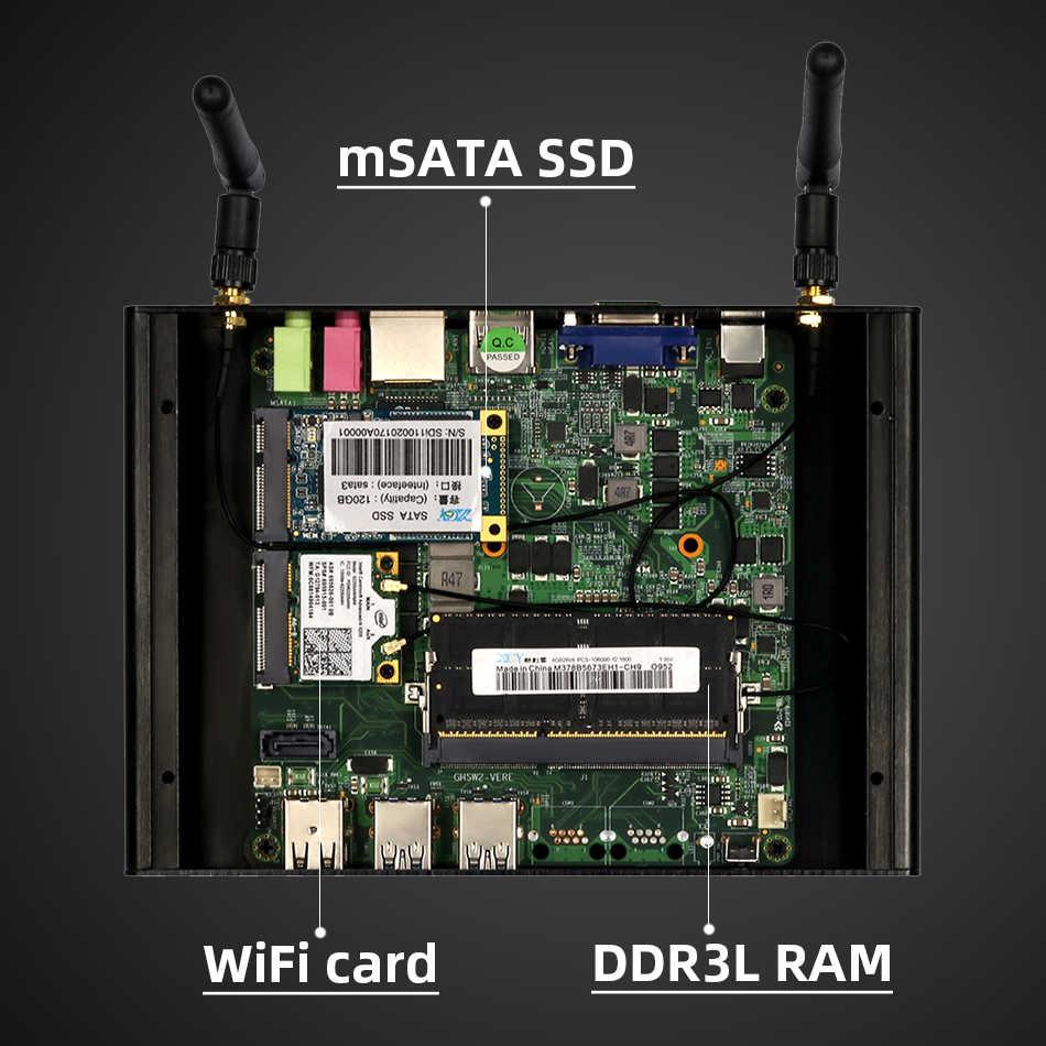 XCY جهاز كمبيوتر صغير إنتل كور i7 7500U i5 7200U i3 7100U DDR3L RAM mSATA SSD HDMI VGA 6xUSB ثنائي النطاق واي فاي بلوتوث 4.0 ويندوز 10
