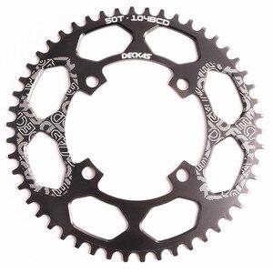 Image 2 - Deckas 104BCD 40/42/44/46/48/50/52T Mountain Fiets Kettingwiel Mtb fiets Crankstel Aluminium Smalle Brede Kettingblad Bcd 104