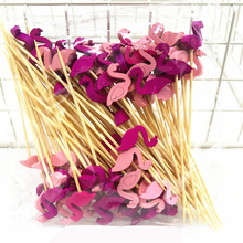 100Pcs 12cm Pineapple Flamingo Fruit Fork Sticks Buffet Cupcake Toppers Cake Cocktail Forks Wedding Festival Party Decorations