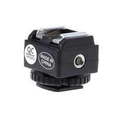 C N2 Hot Shoe Converter Adapter PC Sync Port Kit For Nikon Flash To Canon Camera New
