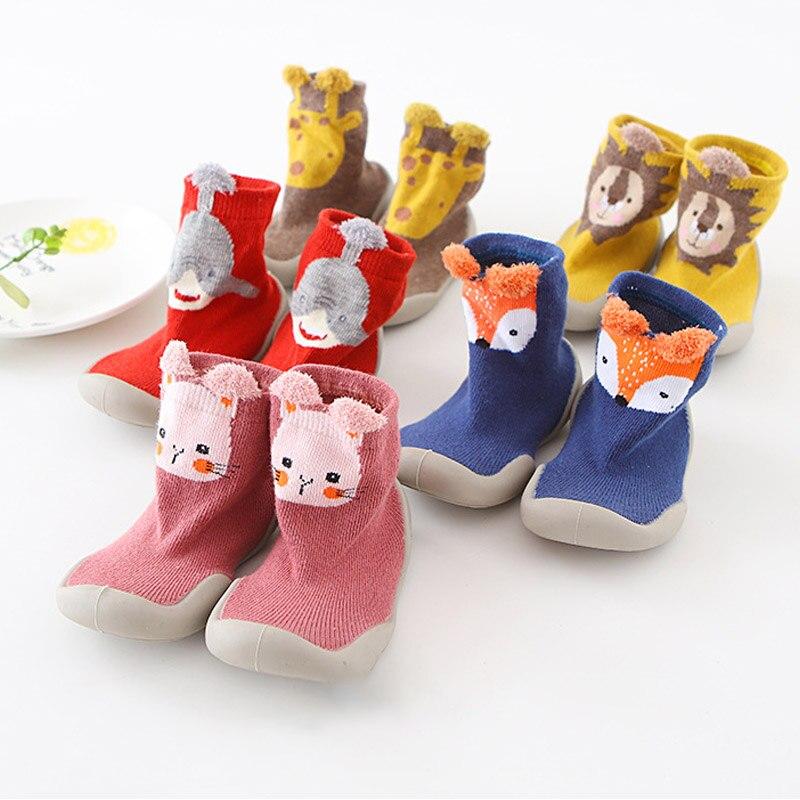 Infant Walker Shoes 80% Cotton Non-slip Baby Sock Shoes 1Pair Korean Style Boat Socks Baby Toddler Floor Socks