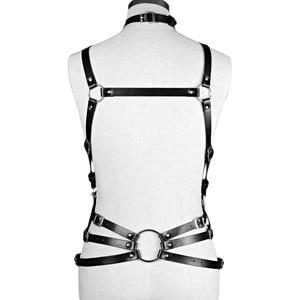 Image 5 - Fullyoung Taille Pu Leder Harness Bondage Gürtel Punk Brust Körper Hosenträger Riemen Frauen Sexy Körper Käfig Gürtel Dessous Harajuku