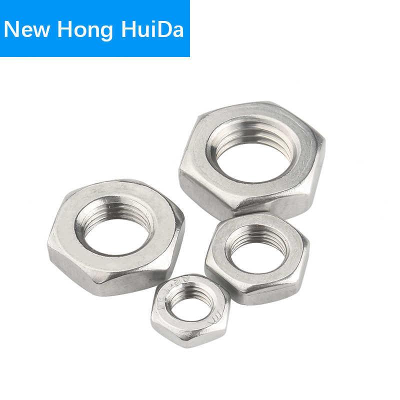 DealMux Tuercas hexagonales M12x1 UNF 304 Tuerca hexagonal de rosca de acero inoxidable 4 piezas