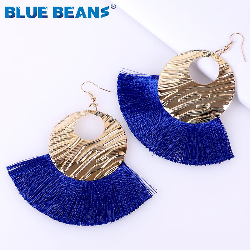H3c42beeaa8744f8790de6ad465b3f2f16 - Tassel Earrings Women Punk Earings Fashion Jewelry Hanging Crystal Star Girls Earring Drop Dangle Long Boho Set  Luxury Handmade