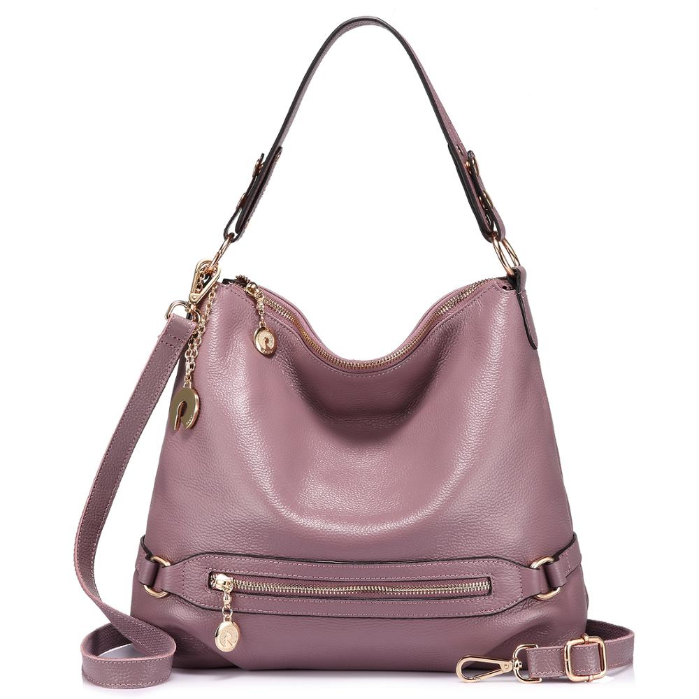 Realer Women Handbag High Quality Genuine Leather Crossbody Shoulder Bag For Ladies With Top-handle Messenger Bag Large Capacity