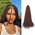 3D кубические удлинители волос, синтетические плетеные волосы, 12 прядей/упаковка, 22 дюйма, 110 г