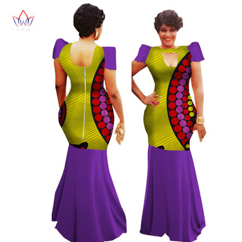 Dashiki African Dresses For Women Spring Bazin Ankara Dresses short Sleeve Plus Size Afriacn Print Clothes For Women WY1156